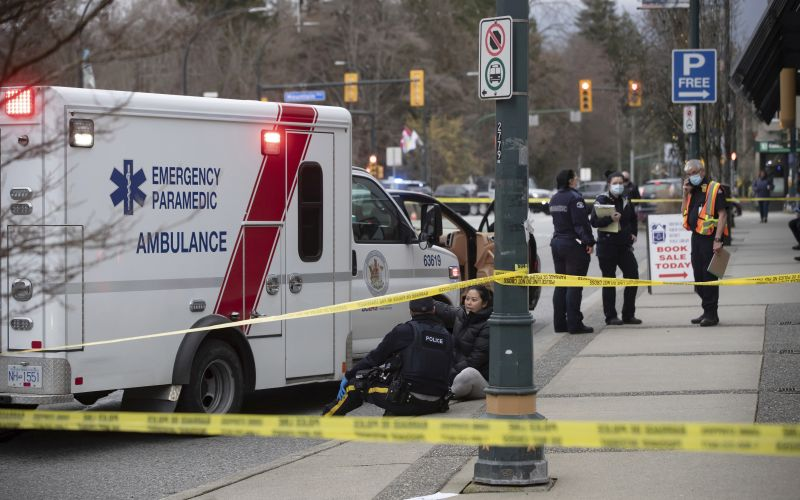 Stabbing incident at North Vancouver library leaves several people injured
