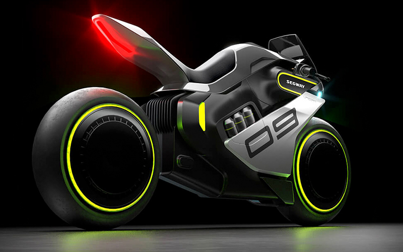 Segway-Ninebot motorbike: a hydrogen-powered hybrid with futuristic looks