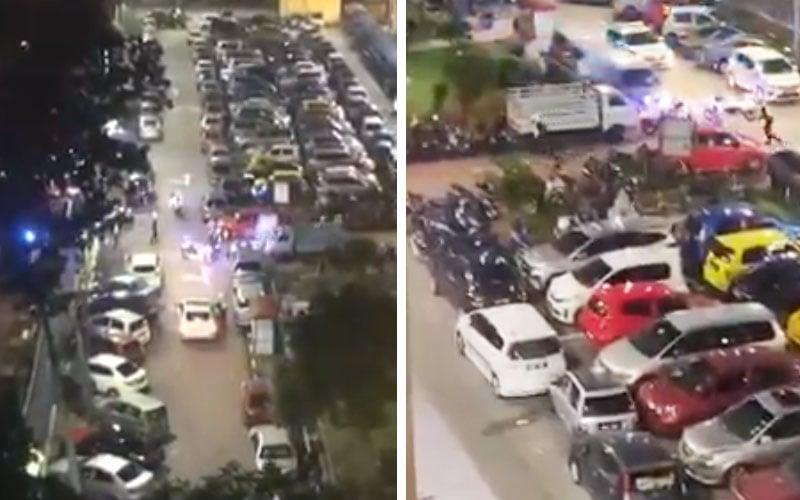Cops get fiery reception in Sentul